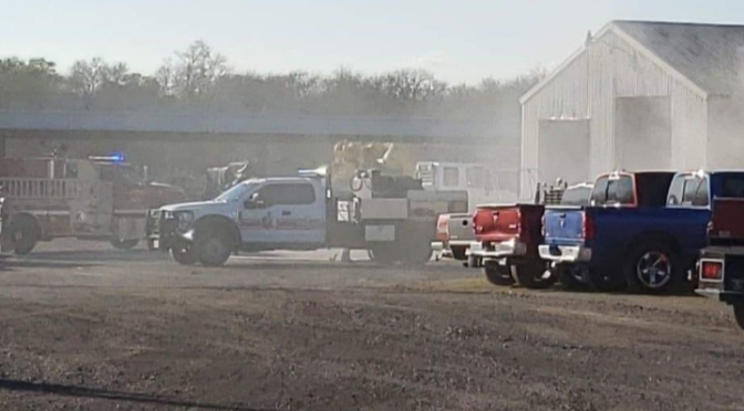 Fire Breaks Out At Luckett Crane This Afternoon In Commerce #Breaking
