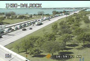 I-30 Eastbound @ Dalrock Down To One Lane Due To Motorcycle Accident