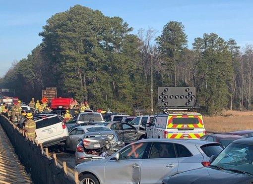 69 Car Pileup Near Williamsburg Virginia Leads To More Than 50 Injuries