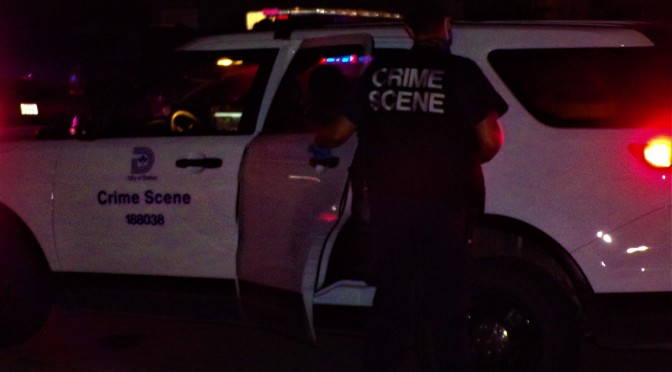 Dallas Police Investigate A Shooting  On Olde Towne Rowe
